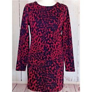 Michael Kors Red & Black Animal Print Dress - M